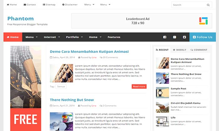 Phantom-Responsive-Blogger-Template