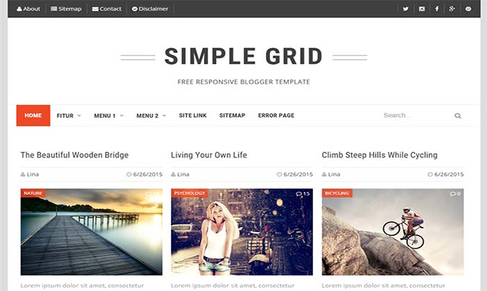 simple grid responsive blogger template live demo download simple grid