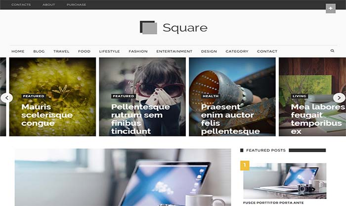 Square-Responsive-Blogger-Template