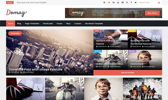 DoMag Blogger Template