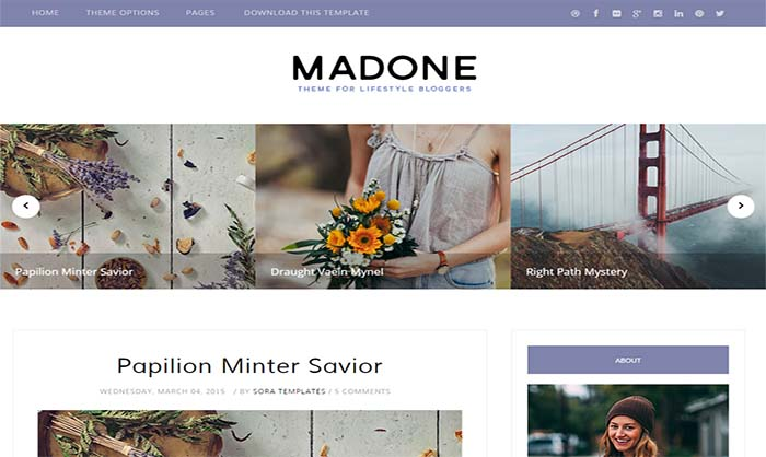 Madome Blogger Template