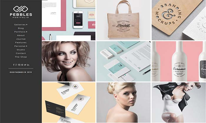 Pebbles-Portfolio-Blogger-Template