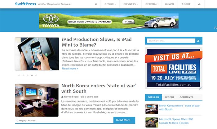 SwiftPress-Blogger-Template