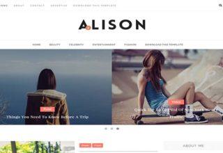 Alison Blogger Template
