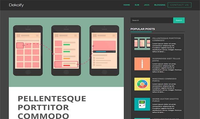 Dekoify Blogger Template