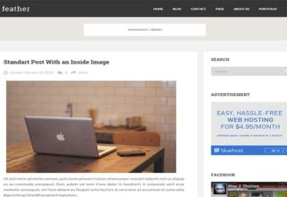 Feather Blogger Template
