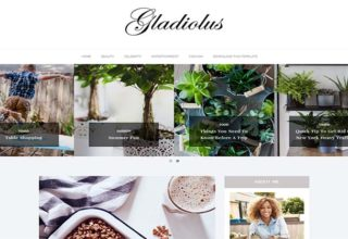 Gladiolus Blogger Template