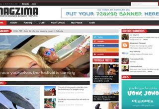 Magzima Blogger Template