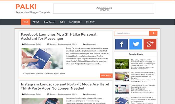 Palki Blogger Template