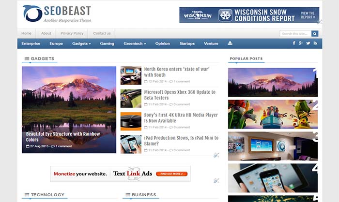 SEOBeast Blogger Template