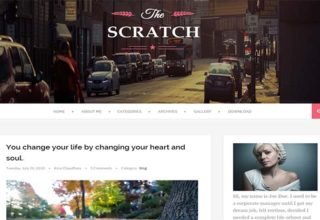 Scratch Blogger Template