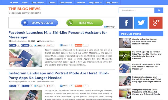 Blog News Blogger Template