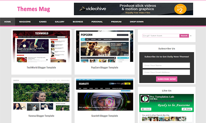 Theme Mag Blogger Template