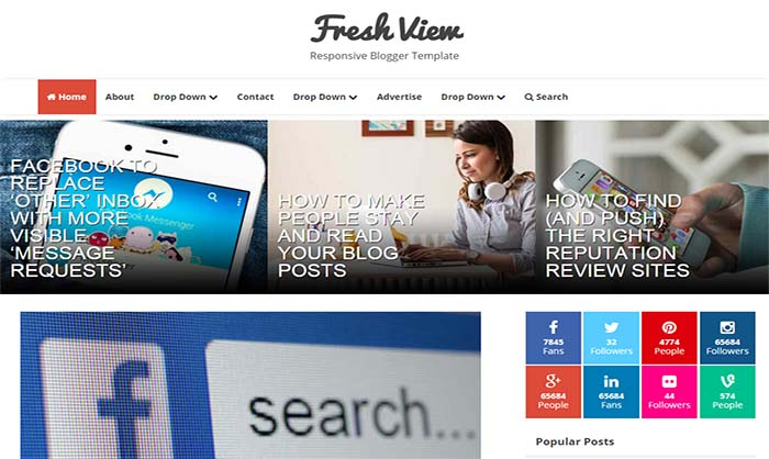 Fresh-View-Blogger-Template