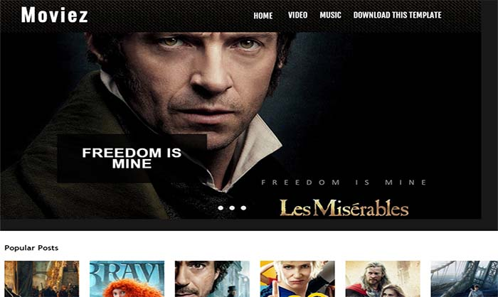 Moviez-Blogger-Template