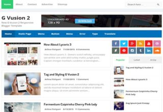 G Vusion-2 Blogger Template
