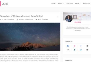 2016 Blogger Template
