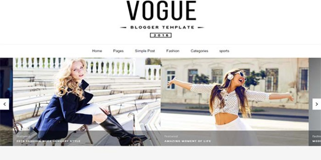 Vogue Blogger Template