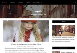 Zipson Blogger Template