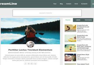 DreamLine Blogger Template