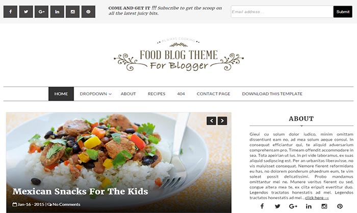 Blog blogger template food blog blogger template forumfinder Choice Image
