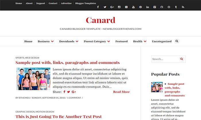 Canard Blogger Template