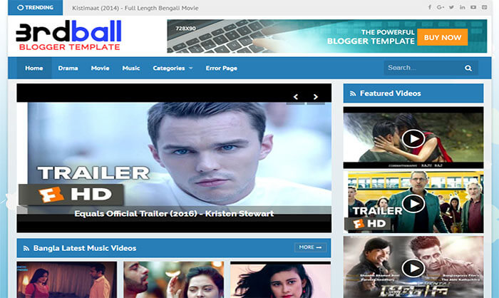 3rdball Blogger Template