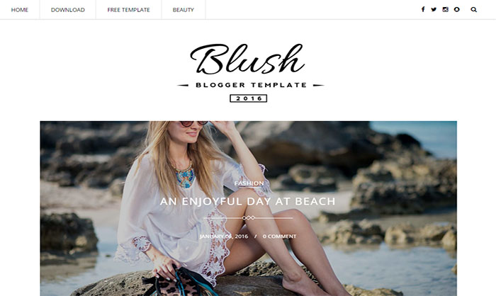 Blush Blogger Template