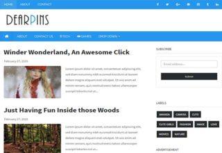 Dearpins Blogger Template