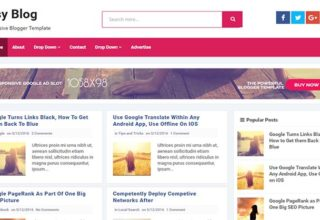 Easy Blogger Template