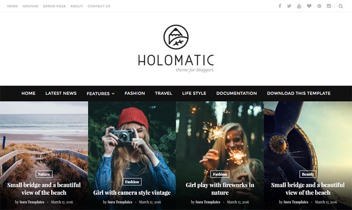 Holomatic Blogger Template