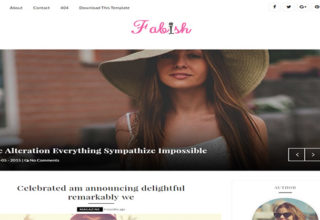 Fabish Blogger Template