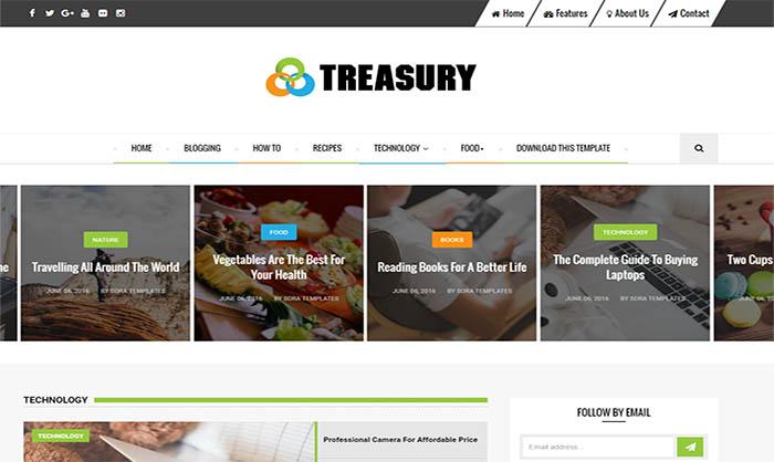 Treasury Blogger Template