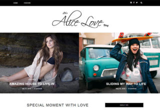 Alice Blogger Template