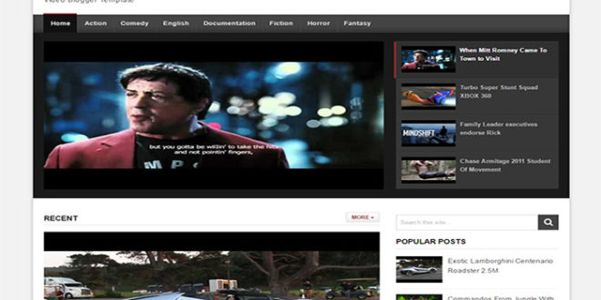 Detube blogger template