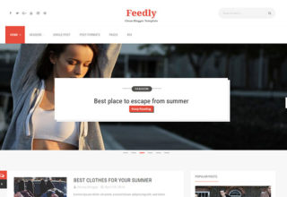 Feedly Blogger Template