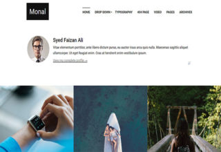 Monal blogger template
