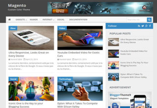 magento blogger template