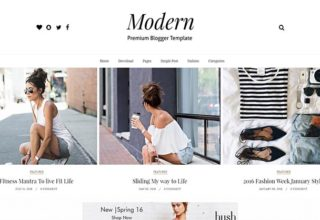 modern grid blogger template