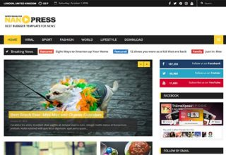 nanopress blogger template