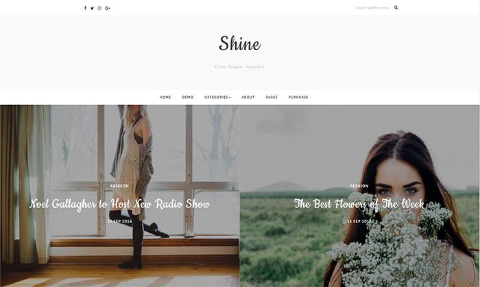 shine blogger template blogspot templates 2018