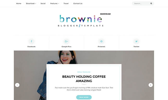 brownie blogger template