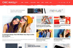 chicmag blogger template