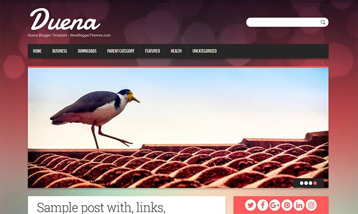 duena blogger template