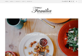 familia blogger template