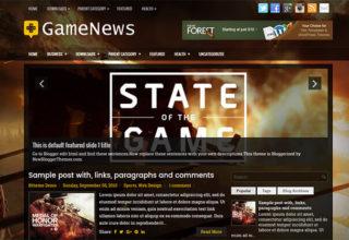 gamenews blogger template
