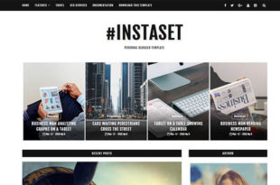 instaset blogger template