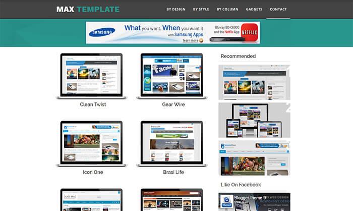 max blogger template