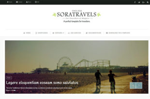 sora travels blogger template