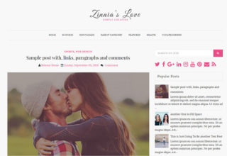 zinnias lite blogger template